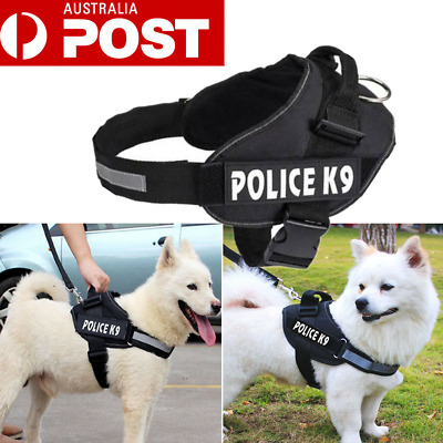 Control Large Small Dog Pulling Harness Adjustable Support Comfy Pet Training AU