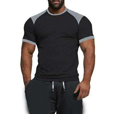 Casual t shirt men's t shirts muscle tee blouse short sleeve o neck tops