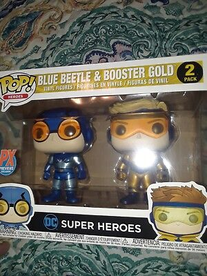New Toy Heroes Booster Gold /& Blue Beetle PX Vin Fig Metallic 2Pk Pop