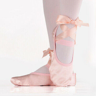 1 Pair Kids Children Satin Ballet Shoes Temperament Full Sole Ballet Dance Shoes