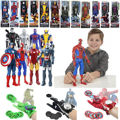 Marvel The Avengers Superhero Incredible Action Figure Toy Launchers Gloves Gift