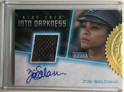 Star Trek Beyond Zoe Saldana as Uhura Autograph Costume Card, Incentive Card