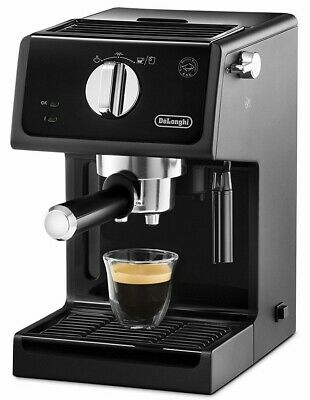 Delonghi Espresso Coffee Maker Machine 1 & 2 Cups ECP3121 Traditional Pump Black