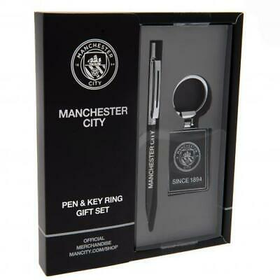 Manchester City Fc Executive Pen And Keyring Set - Official Gift