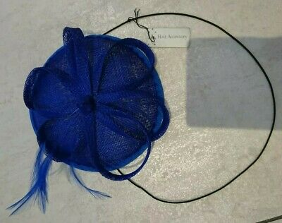 Ladies Blue Fascinator On Comb And Elastic Band. BNWT. Wedding, Prom, Races