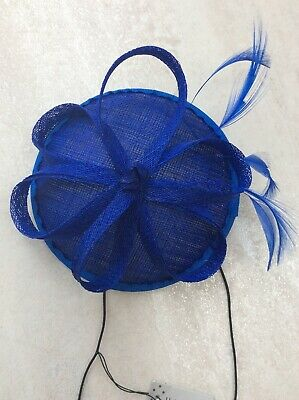 Blue Fascinator On Comb And Elastic Band. BNWT. Wedding, Prom, Races