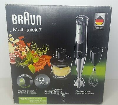 Braun Multiquick 7 Hand Blender Set MQ735 + Accessories Chopper Whisk 400W NIB