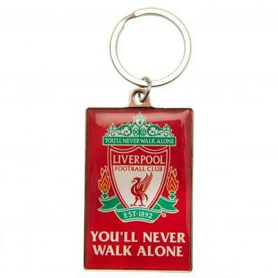 Liverpool Fc Ynwa Metal Keyring In Velvet Pouch - Official Gift