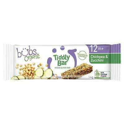Bubs Organic Tiddly Bar Chickpea & Zucchini 12 Months+ 14g