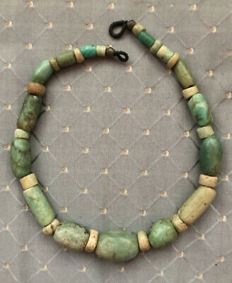 (B) Ancient Neolithic Amazonite Beads Large  NR