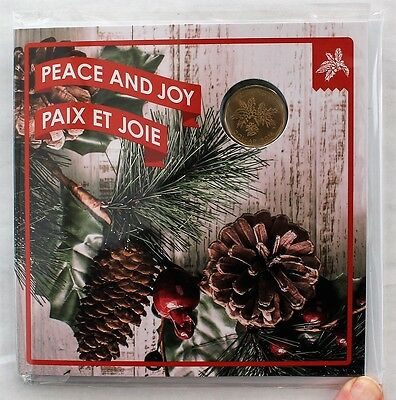 2016 Canada Holiday Gift Set; Peace & Joy; Unique Loonie & Four Other Coins