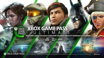 New 1 month Xbox Game Pass Ultimate Digital Code Email Delivery (Live Gold + GP)