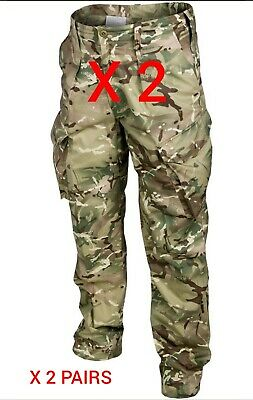 British Army Mtp Combat Trousers X 2 Pairs - Used Grade 1 - Various Sizes - Pcs