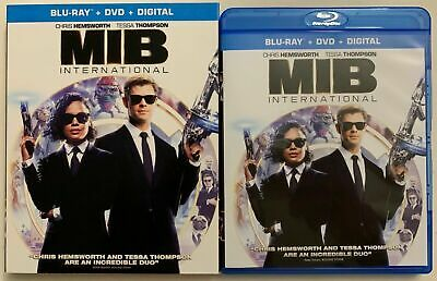MIB Men In Black International (Blu-ray + DVD + slipcover, No digital) Like New