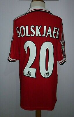 Solskjaer  - Manchester United 1998/99 Home Shirt  All Sizes Available -S M L Xl