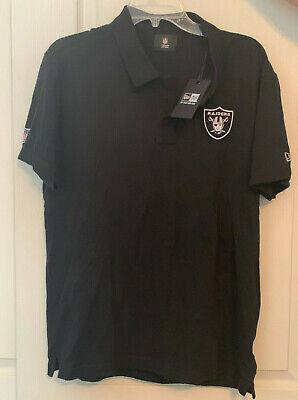 huge selection of bee2b f7a44 OAKLAND RAIDERS DRI Fit Mens Black Golf Shirt Polo New Size ...