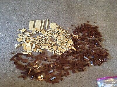 HUGE 2.7 POUND LOT of Lego Brown/Tan PIECES BULK ASSORTMENT Exactly as pictured!