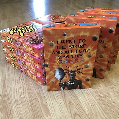 Travis Scott x Reese's Puffs cereal RARE Look Mom I Can Fly 1 BOX Rare Rap