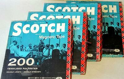 SCOTCH 3M - 4 Boxes of Reel To Reel Magnetic Tapes from 1960s - 2400 Feet Each