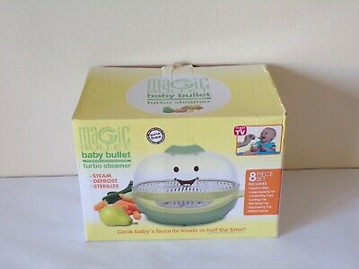 New MAGIC BULLET Baby Bullet Turbo Steamer 8 Piece New in Box Fast Shipping!
