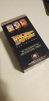 Back To The Future Limited Edition Trilogy + Secrets VHS Box Set GREAT CONDITION