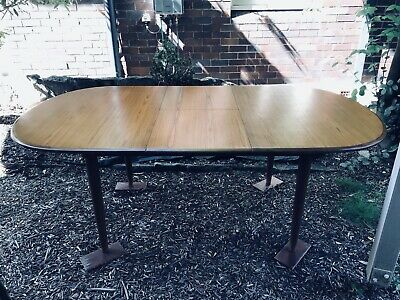 CRO Mid Century Dining Table Retro Solid Timber Australian Vintage MCM.