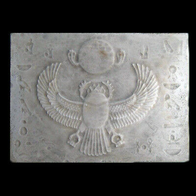 Winged Scarab Ancient Egyptian sculpture Relief wall plaque