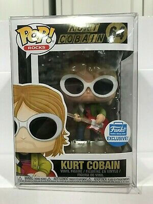Funko Pop Rocks KURT COBAIN Funko Shop Exclusive #64 w/ Soft Protector AUTPOPZ