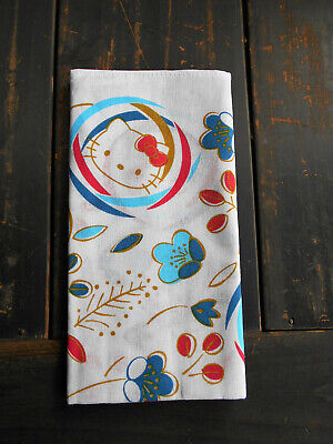 japanese tenugui  fabric  Title: Hello Kitty  Cotton100%
