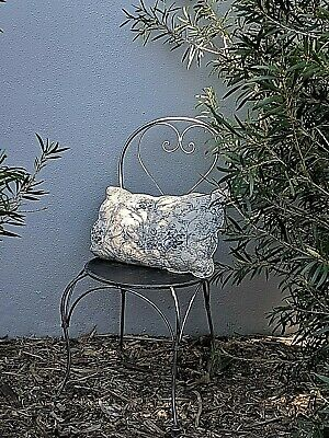 FRENCH garden BISTRO BLACK SILVER CHAIR WROUGHT IRON  QUALITY NEW