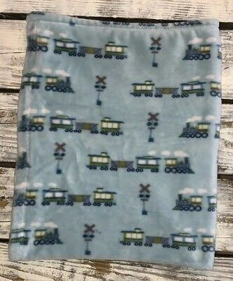 Adirondack Baby Plush Blue Train Station Blanket Railroad Crossing Lovey 2017