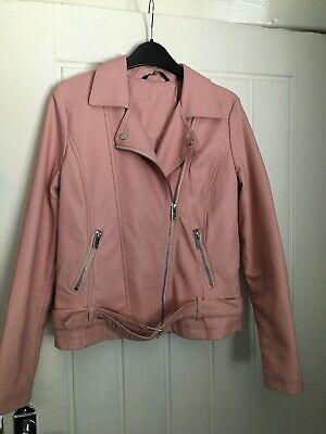 Asda George Girls Faux Pink Leather Jacket Size 11/12 Years