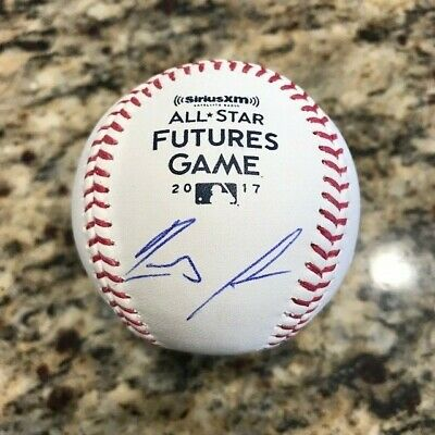 Ronald Acuna Autographed 2017 Futures Game Official Baseball JSA Witnessed