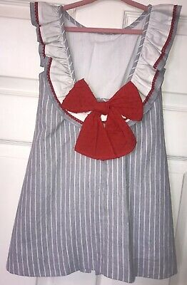 Dolce Petit Spanish Dress W/ Big Red Bow 6 Years