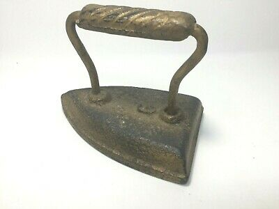 Vintage Laundry Clothing Iron Cast Iron Door Stop #6 Rustic Farmhouse Flat Iron