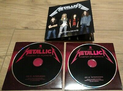 Metallica Master of Puppets  Deluxe  - Interview 2 x CD New from Box Set