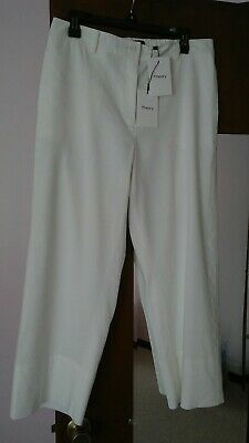 Theory Fluid Pant SL.Optic White Caliver Size 10.N.W.T.