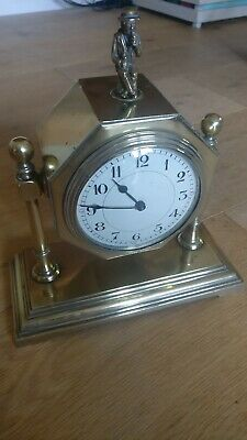 Good Quality Antique vintage French Brass Desk / mantel  Clock regulator 8 day