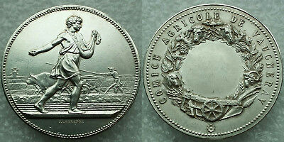 2 oz Silver Medal--FRANCE 'Vaugneray Agricultural Commission' **Rare issue**BU+