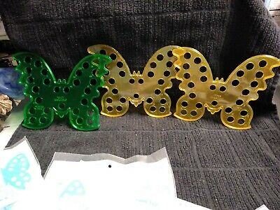 Butterfly Embroidery Floss Organizer Beachwood Lot of 3 Plastic free s&h
