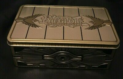GOLD SARCOPHAGUS MEGA TIN - EMPTY STORAGE TIN 2019 YuGiOh Holds 400+ Cards