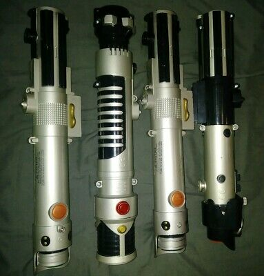 LOT OF 6 Star Wars Extendable Light Sabers Including Darth