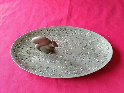 Quality Silver Plated Squirrel Nut Tray Dish