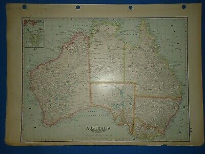 Vintage Circa 1931 AUSTRALIA MAP Old Antique Original Folio Size Atlas Map