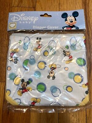 NIP Disney Mickey Mouse Infant Cloth Baby Diaper Cover 0-6 Months