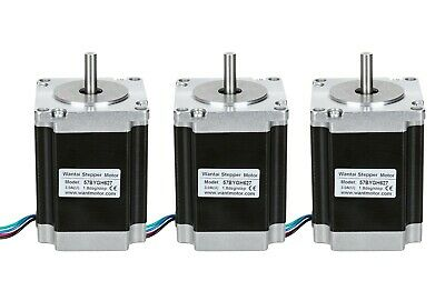 WANTAI  3pcs Nema 23 stepper motor 270oz-in  3A D8MM round shaft  57*57*76mm