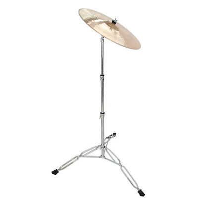 Durable Straight Cymbal Drum Stand Double Braced Hardware Adjustable Silver