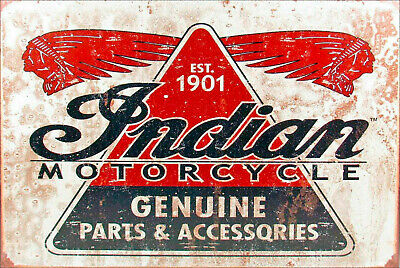 Indian motorcycles since 1901 brand new tin metal sign MAN CAVE