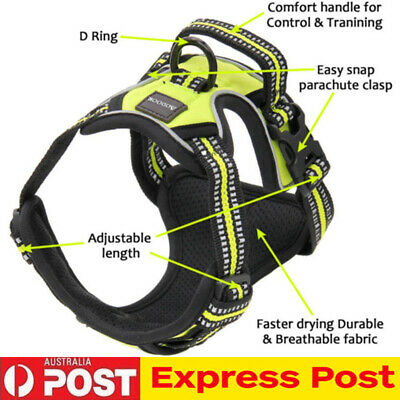 No-pull Dog Pet Harness Reflective Outdoor Safety Vest Jacket With Padded Handle
