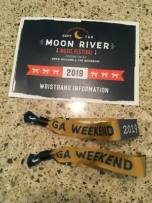 Moon River Music Festival Wristbands-- September 7 & 8 in Chattanooga, TN